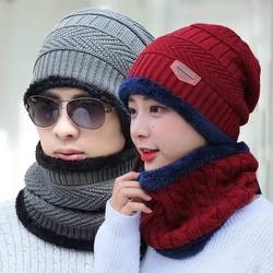 Set mũ kèm khăn phù hợp cả nam và nữ