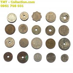 Bộ 20 tiền xu Việt Nam qua các thời kỳ nhiều kích thước, nhiều màu sắc - XVN002