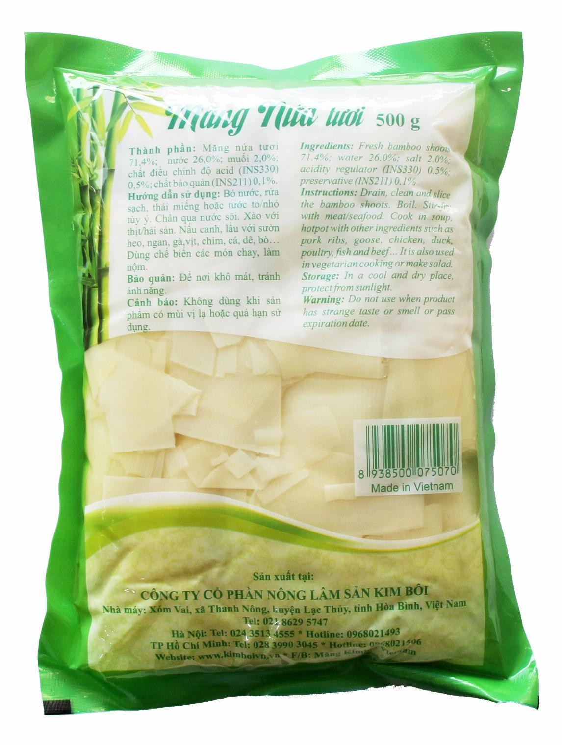 Hình ảnh Măng nứa tươi Kim Bôi 500g