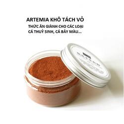 Artemia Tách Vỏ Sấy Khô   Thức Ăn Giàu Giá Trị Dinh Dưỡng Cho Guppy  Betta  Các Loại Cá Thủy Sinh