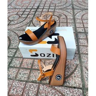 [Hỗ trợ ship] giày sandal xuồng 7cm quai ngang Sozini cao cấp siêu êm - X009.3 thumbnail