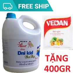Nước Giặt Xả Quần Áo Trẻ Em Dni-Kid 3600ml Tặng400gr Bột Ngọt Vedan