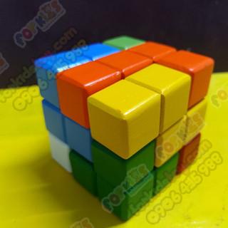 Đồ chơi thách thức thông minh, rubik 3x3 gỗ, đồ chơi giáo dục cho bé, Đồ chơi thách thức thông minh, Đồ chơi thách thức thông minh - rubik3x3go thumbnail