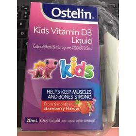 [Bill Air] Vitamin D Ostelin dạng nước cho trẻ Ostelin Vitamin D Kids Liquid 20ml của Úc - TT241020002