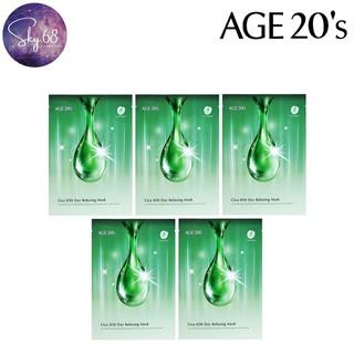 Combo 5 Mặt Nạ Trị Mụn Thần Tốc, Làm Dịu Da Age20 s Cica Sos Day Relaxing Mask 30g X 5 - 5Mask.Ae20.Cica thumbnail