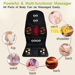 Ghê đệm massage toàn thân 8 vùng cao cấp hiện naySử Dụng Điện Nhà 220V/12V, Chất Lượng Vượt Trội, Sale Cực Sốc - Cửa hàng chăm sóc sức khỏe và làm đẹp Maxvision, cam kết chất lượng, bảo hành 1 đổi 1 mẫu mới 2020
