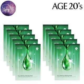 Combo 10 Mặt Nạ Trị Mụn Thần Tốc, Làm Dịu Da Age20 s Cica Sos Day Relaxing Mask 30g x 10 - 10Mask.Ae20.Cica thumbnail