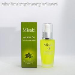 Tinh dâu Tra xanh phuc hồi tóc hư tổn Misaki 60ml