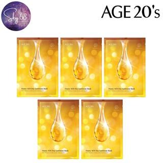 Combo 5 Mặt Nạ Dưỡng Trắng Cấp Ẩm Thần Tốc Chiết Xuất Mật Ong Age20 s Honey SOS Day Luminous Mask 30g x 5 - 5Mask.Age20.Honey thumbnail