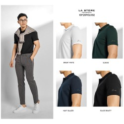 Áo thun ROUTINE - AT có cổ nam nhiều màu form fitted vải cotton cao cấp - POL002 - Shop LASTORE