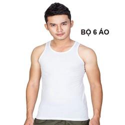 (Miễn ship 30k) Combo 6 áo lót nam ba lỗ mềm mịn Hanovina