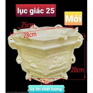 khuôn chậu lục giác 25 cao 20 Mới . khuôn ABS có lòng trong) - LG25M thumbnail