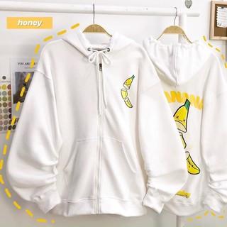 Áo khoác thun nỉ ngoại in hình chuối mềm mịn siêu đẹp - AKN0000065 thumbnail