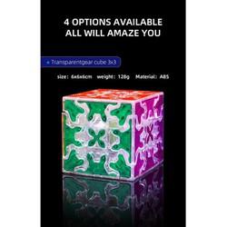 [Rubik Biến Thể] QiYi Gear Cube Trong Suốt/Transparent 3x3x3