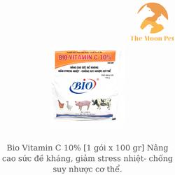 Bio Vitamin C 10% [1 gói x 100 gr] Nâng cao sức đề kháng, giảm stress nhiệt- chống suy nhược cơ thể