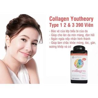 VIÊN UỐNG BỔ SUNG COLLAGEN YOUTHEORY +BIOTIN 390 VIÊN TYPE 1 2 & 3 CỦA MỸ - COLLAGEN thumbnail