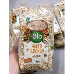 Yến mạch nguyên hạt hữu cơ  Đức dm Bio Hafer Flocken Glutenfrei 500g