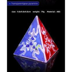 [Rubik Biến Thể] QiYi Gear Cube Trong Suốt/Transparent Pyraminx (Kim Tự Tháp)