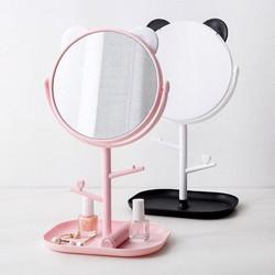 [ MẪU MỚI NHẤT 2020 ] Gương trang điểm để bàn tai gấu xoay 180 độ siêu dễ thương