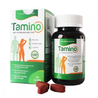 Viên Uống Tăng Cân TAMINO - Bổ Sung Whey Protein từ Mỹ - Ăn Ngủ Ngon - TAMINO - CHÍNH HÃNG - DATE MỚI NHẤT - Tamin0001 thumbnail