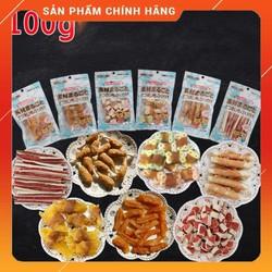 Đồ Ăn Vặt Bánh Thưởng Xương Gặm Dog Snacks Cho Chó Gói 100g