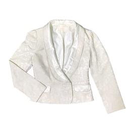 Áo khoác vest, blazer gấm nữ thêu sang trọng