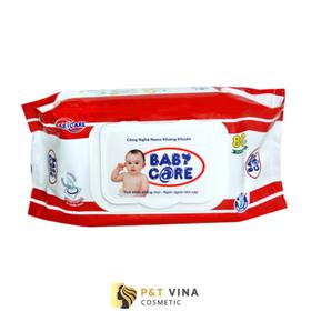 [Chính Hãng] Khăn Ướt Baby Care 80 Tờ Không Mùi - Khăn 80 Tờ Không Mùi