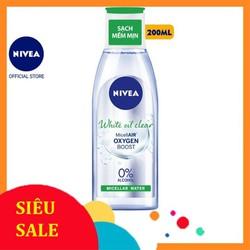 Nước Tẩy Trang Nivea Kiểm Soát Nhờn White Oil Clear Micellar Water  200Ml