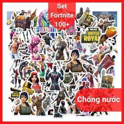 Sticker Dán Cute, Set 100+ Sticker Fortnite Dán Nón Bảo Hiểm, Laptop, Điện Thoại, Máy Tính, Vali, Xe