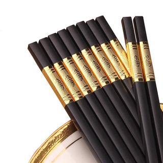 Đũa Mạ Vàng 1 Hộp 10 Đôi - Đũa Mạ Vàng Mạ Vàng Sang Trọng Hàn Quốc thumbnail