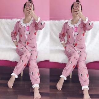 Bộ pijama kate thái loại 1 cao cấp - bèo ren tiểu thư - ẢNH THẬT-CHO XEM HÀNG - 087 thumbnail
