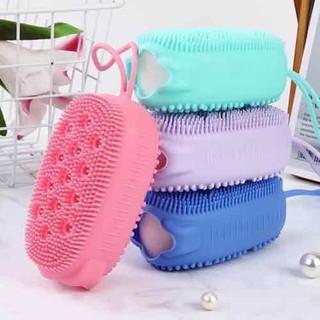 Combo 2 Bông tắm silicon tạo bọt kèm massage - FS59 Bông tắm silicon thumbnail