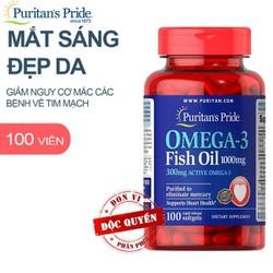 OMEGA-3 FISH OIL 1000mg – Viên uống dầu cá giúp BỔ MẮT, NÃO, TIM MẠCH và TĂNG CƯỜNG HỆ MIỄN DỊCH cho cơ thể
