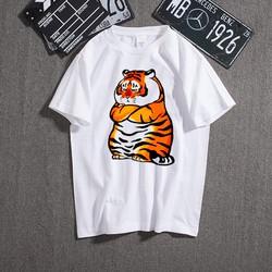 áo thun in hình con hổ mập qạo đễ thương