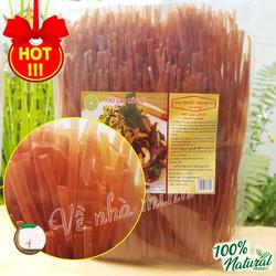 PHỞ GẠO LỨT ĐỎ HỮU CƠ TỰ NHIÊN 500G ( phở gạo lức khô sợi lớn dùng cho người lớn, trẻ nhỏ, ăn chay, ăn kiêng giảm cân )