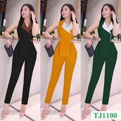 Set Trang Phuc [ FREESHIP TOÀN QUỐC ] Set nguyên bộ áo vest sát nách quần dài xinh xắn TJ1100, chất mềm, mát, thanh lịch