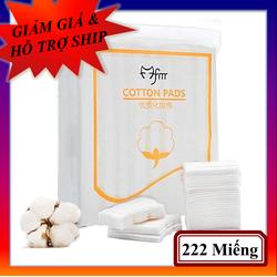 Bông tẩy trang cotton Pad 222 miếng 100% cotton, 3 lớp mềm mịn, thấm hút tốt, không để lại xơ bông