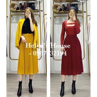 Chân váy xoè dài - xếp ly - cvbb3 thumbnail