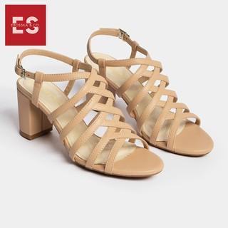 Giày sandal cao gót chiến binh thời trang Erosska gót cao 7cm màu nude CS001 - CS001NU thumbnail