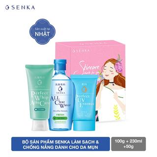Bộ sản phẩm Senka làm sạch và chống nắng dành cho da mụn - 95156 thumbnail