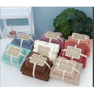 COMBO 4 khăn tắm hàng Nhật vải siêu mịn (2 khăn lớn- 2 khăn vừa) - CBKT01 thumbnail