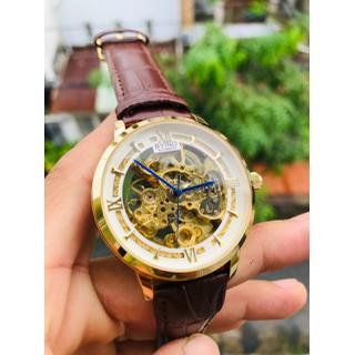 đồng hồ đồng hồ cơ byino chính hãng dây da cao cấp - dh801 thumbnail