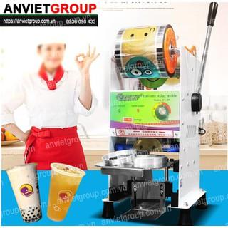 Máy dán ép đậy nắp miệng ly cốc hộp bán bán tự động cuộn màng Eton B9 An Việt - EtonB9 thumbnail