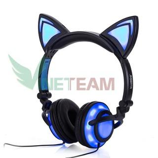 Tai nghe mèo phát sáng LED - Tai nghe mèo mẫu mới 2020 - 4 điểm led sáng - DC4320 thumbnail