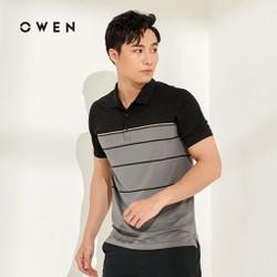 Owen - Áo  Cộc Tay Owen Màu Xám Navy - Áo Thun Có Cổ Nam 20190