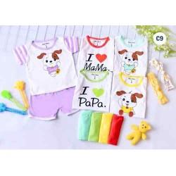 [Freeship] Quần áo trẻ em - combo 5 bộ đùi I Love Mama