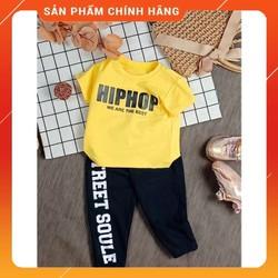 Đồ bộ Hiphop áo tay ngắn quần dài bo lai thun cho be trai,bé gái từ 6kg-23kg.DBQD01.