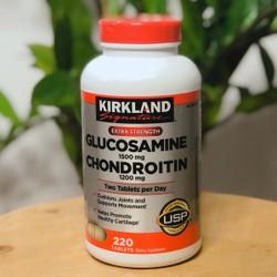 Viên Uống Hỗ Trợ Xương Khớp Glucosamine Kirkland 1500mg và Chondroitin 1200mg 220 Viên