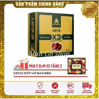 COMBO 2 HỘP GIẢM CÂN SLIM X3 MỘC LINH+ TẶNG 40 VIÊN DETOX - 100000+0002 thumbnail