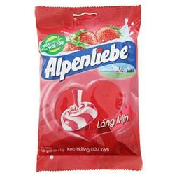 (40 viên) kẹo cứng ALPENLIBE hương sữa dâu